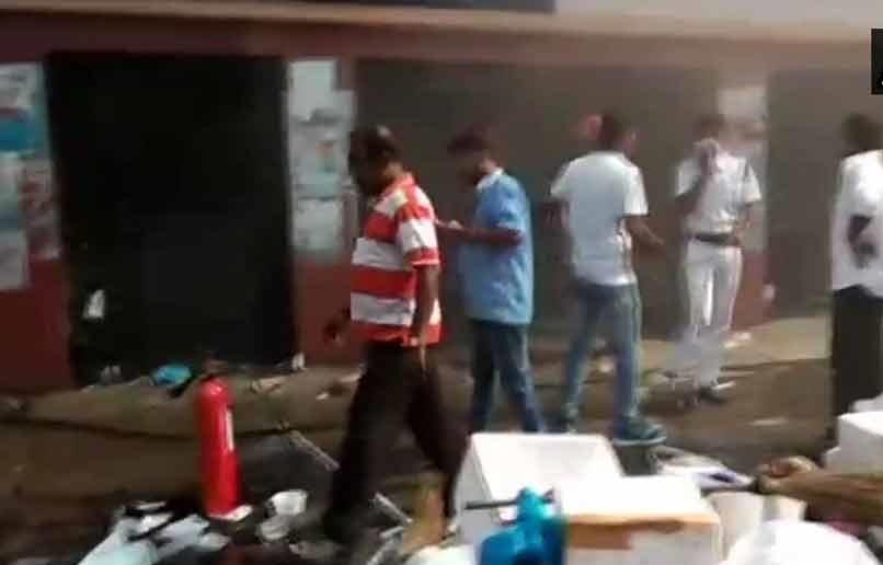 کولکتہ کے سرکاری ہسپتال میں لگی آگ