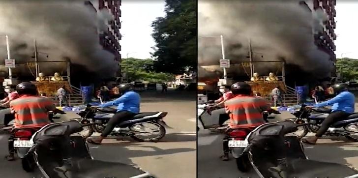 تلنگانہ کے سکندرآباد کی جوتوں کی دکان میں بڑے پیمانہ پر آگ لگنے کا واقعہ