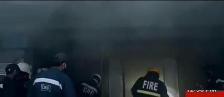 حیدرآباد: کنارابینک میں اچانک آگ لگ گئی
