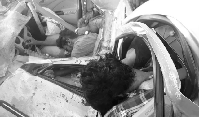 تلنگانہ کے ضلع نلگنڈہ میں سڑک حادثہ۔حیدرآباد کے پانچ نوجوان ہلاک