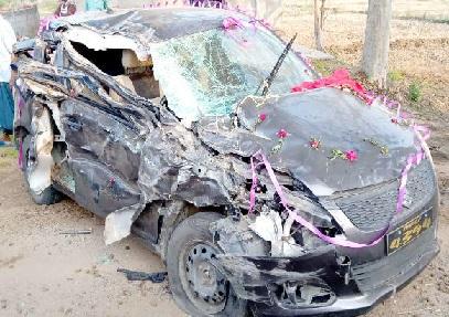 سڑک حادثے میں دلہن کی موت ، دولہےکی حالت نازک