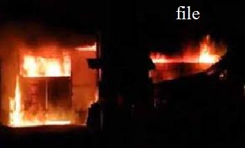 پرانا شہر حیدرآباد کی بہادرپورہ اولڈ موٹر پارٹس مارکٹ کے اسکراپ کے گودام میں آگ