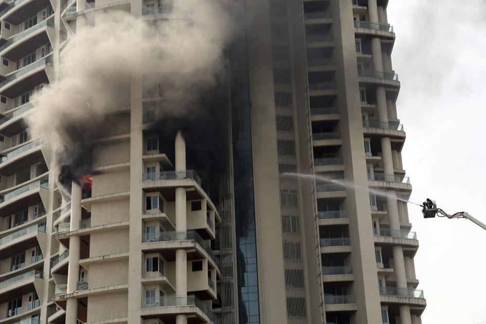 ممبئی کی لگژری رہائشی بلڈنگ میں بھیانک آتشزدگی، ایک شخص ہلاک