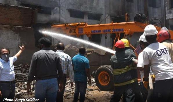 حیدرآباد کے فینس تیار کرنے والے یونٹ میں آگ لگ گئی
