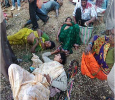 بس حادثہ میں پانچ افراد ہلاک : 18زخمی