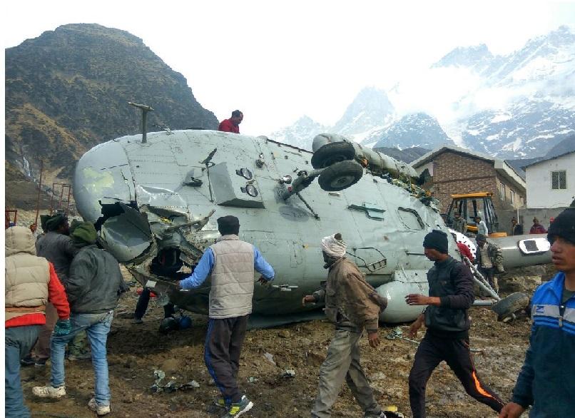 کیدارناتھ کے قریب ہندوستانی فضائیہ کا ہیلی کاپٹر گر کر تباہ