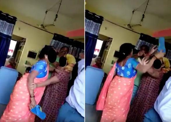 ناجائز تعلقات۔بی جے پی کارپوریٹرکے شوہرکی خاتون نے چپل سے پٹائی کردی