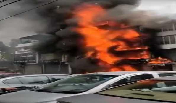 دہلی، لاجپت نگر میں آتشزدگی