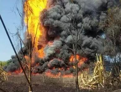 آسام: آئل انڈیا کے گیس کنویں میں لگی شدید آگ
