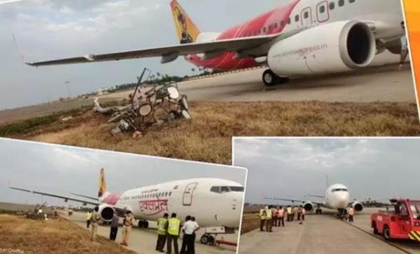 لینڈنگ کے وقت رن وے پر پھسلا ایئر انڈیا کا طیارہ، فلائٹ میں 63 مسافر تھے