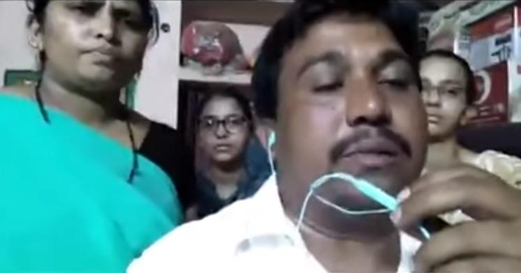 آندھراپردیش میں مسلم خاندان کو پولیس کی ہراسانی۔ ویڈیو وائرل