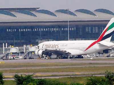 حیدرآباد کے شمس آباد ایرپورٹ پر11لاکھ روپئے مالیت کا سونا ضبط