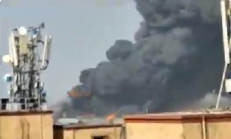 ممبئی میں گودام میں لگی آگ