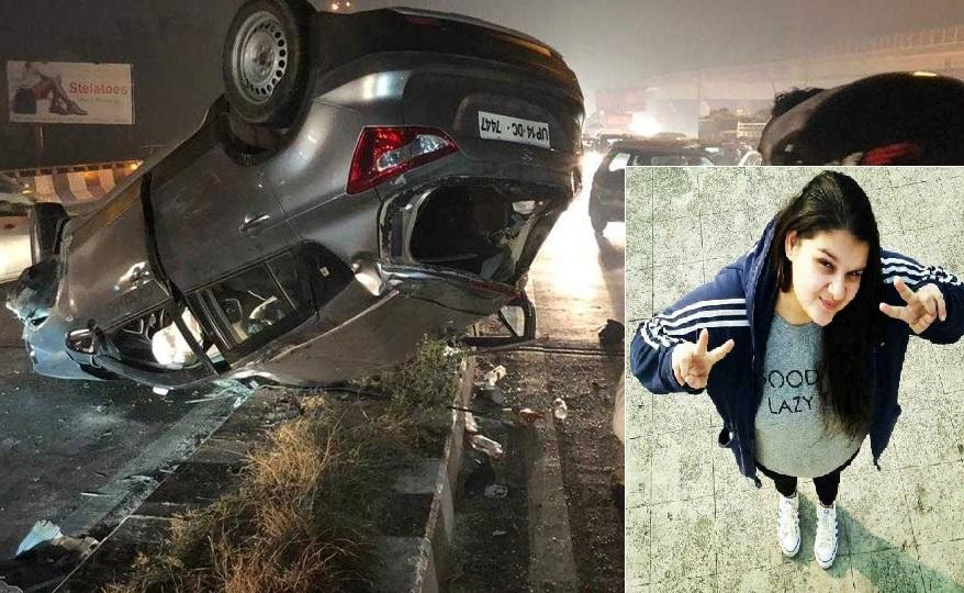 دہلی: کار سوار لڑکی نے نشے میں 3 گاڑیوں کو ماری ٹکر، لڑکی کی موت