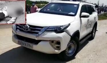 تلنگانہ اسپیکر کی گاڑیوں کے قافلہ کی کار کی ٹکر۔ایک شخص ہلاک