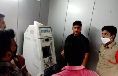 تلنگانہ کے ضلع نلگنڈہ میں اے ٹی ایم کاٹ کر11.5لاکھ روپئے کی چوری کرلی گئی
