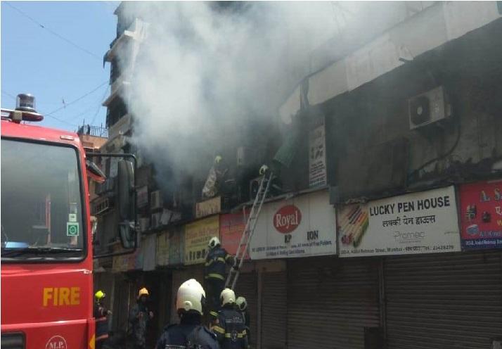 ممبئی کے کرورفورڈ مارکیٹ میں لگی آگ، کوئی جانی نقصان نہیں