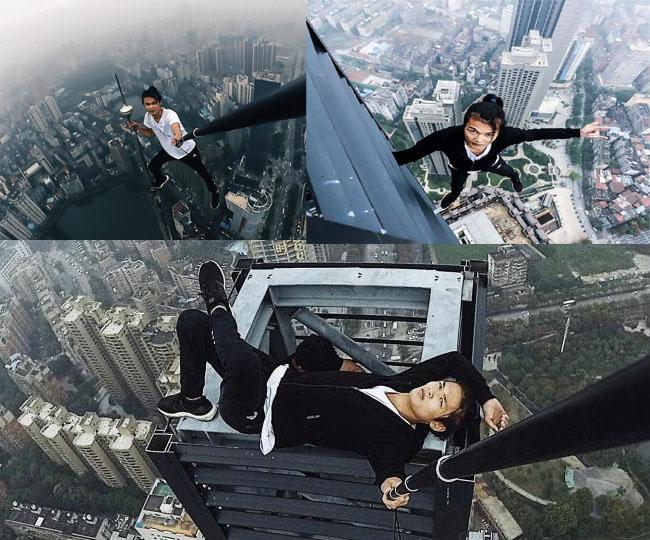 چین میں 62 ویں منزل سے گر کر ہوئی چائنیز اسپائیٹر مین کی موت