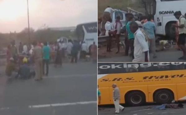 آندھرا پردیش کرنول  ضلع میں سڑک حادثہ، 15 لوگوں کی گئی جان