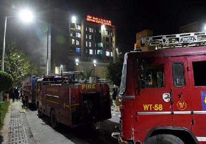 دہلی کے ایمس میں لگی آگ