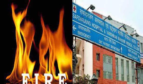 صفدرجنگ اسپتال، گاندھی نگر میں آتشزدگی