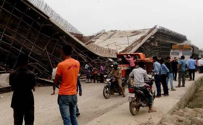 یوپی میں زیر تعمیر فلائی اوور گر پڑا،4مزدور ہلاک