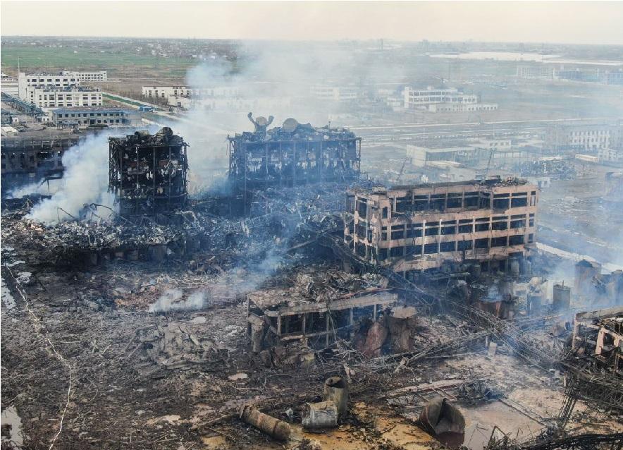 چین میں کیمیکل پلانٹ میں دھماکے، ہلاکتوں کی تعداد 64 ہوگئی
