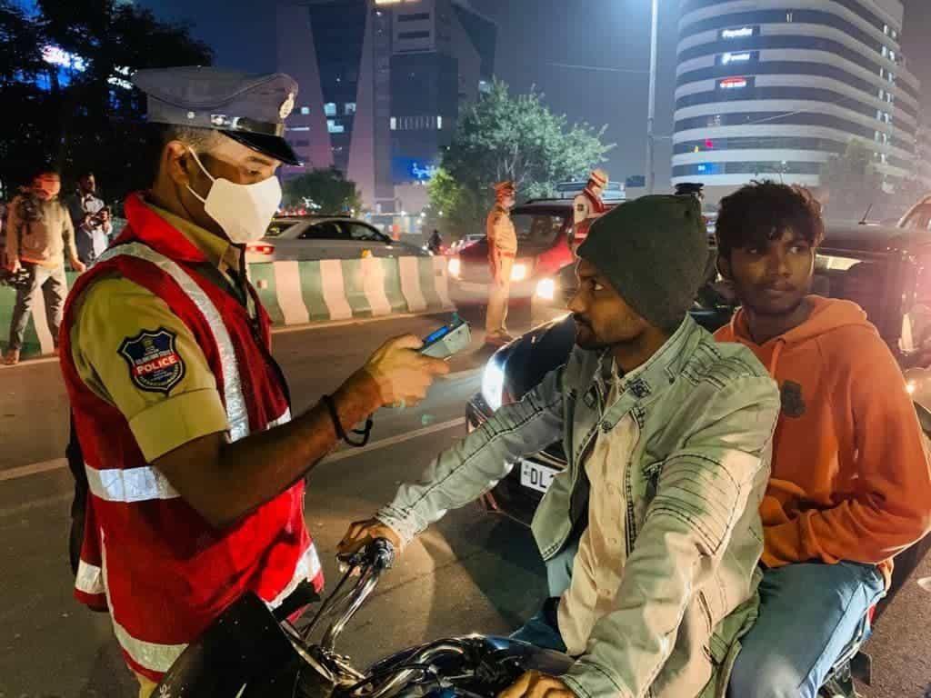 حیدرآباد:حالت نشہ میں گاڑیاں چلانے والے 3571افراد کے خلاف معاملہ درج