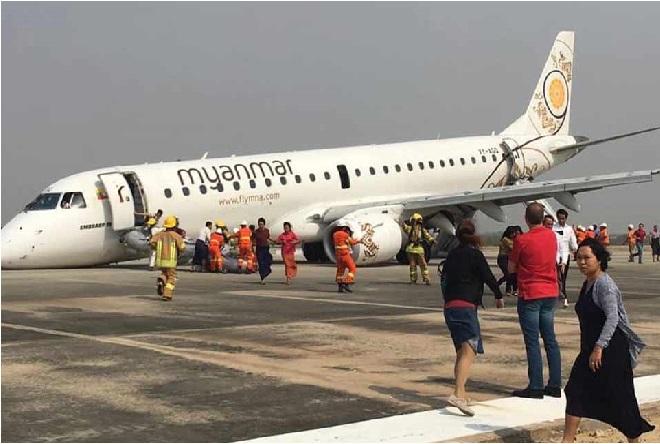 اگلے پہیے کے بغیر پائلٹ نے کی ایمرجنسی لینڈنگ، 89 لوگوں کی بچائی جان