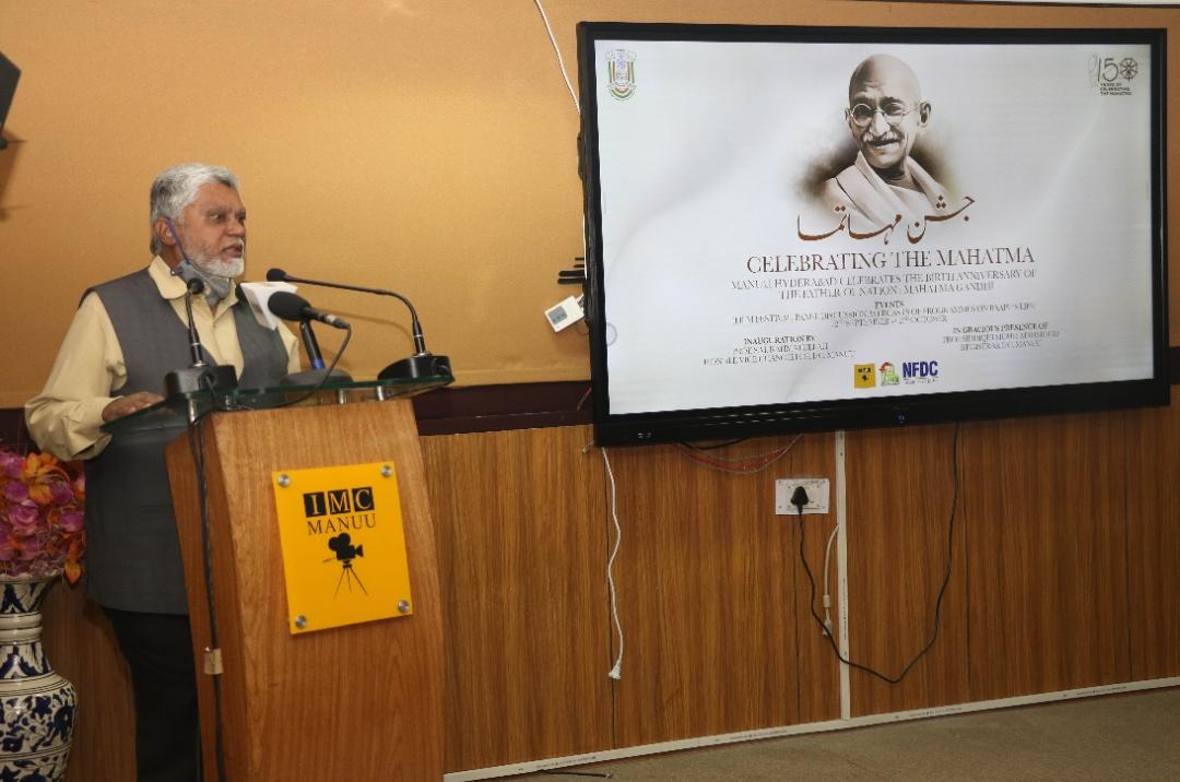 اُردو یونیورسٹی میں مہاتما گاندھی پر فلم فیسٹول کا آغاز