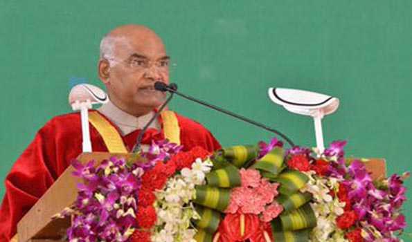 ہندوستان کا نام روشن کرنا ملک کے تمام لوگوں کی ذمہ داری ہے: کووند
