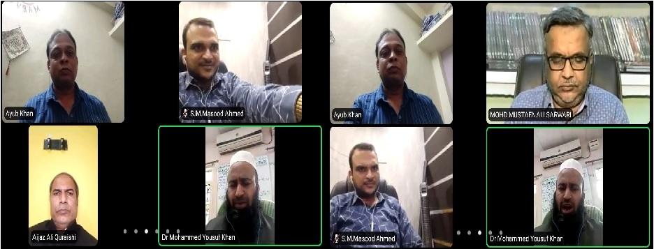 مانو المونی کی طرف سے اردو یونیورسٹی میں داخلوں کے لیے شعوری بیداری سیریز کا پہلا آن لائن اجلاس