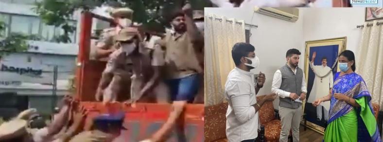 امتحانات ملتوی کرنے کا مطالبہ، طلبہ تنظیموں نے وزیرتعلیم تلنگانہ کے مکان کا محاصرہ کیا