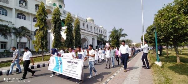 """اُردو یونیورسٹی میں فِٹ انڈیا موومنٹ کے تحت ''واکاتھان"""" کا انعقاد"""