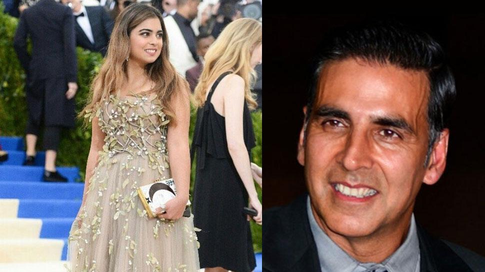 مکیش امبانی کی بیٹی ایشا امبانی کی بالی ووڈ میں انٹری' اکشے کمار کے ساتھ نظر آئیں گی نظر