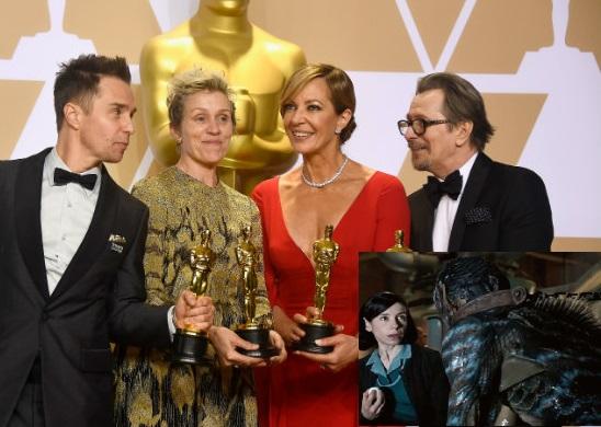 """فلم """"شیپ آف واٹر"""" کے لیے بہترین فلم کا آسکر ایوارڈ"""