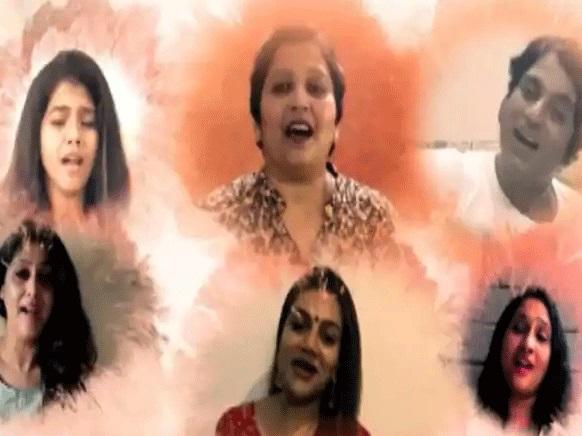211 فنکاروں نے گایا 'خود انحصار ہندوستان' سے متاثرنغمہ