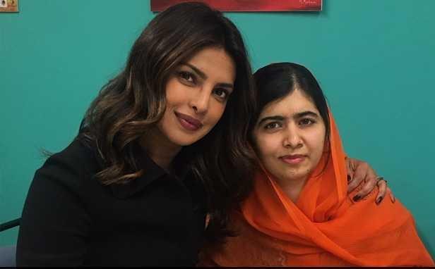 ملالہ یوسف زئی کے ساتھ پرینکا چوپرا کی ملاقات