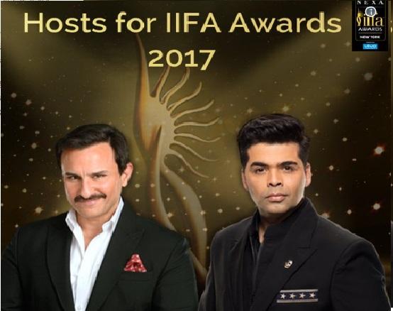 سیف علی خان اور کرن جوہر کریں گے IIFA Awards کی میزبانی