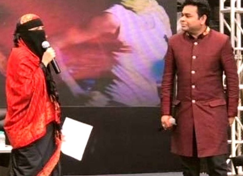 اے آر رحمان کی بیٹی برقعے میں آئی نظر : ٹرولس کو رحمان کا زبردست جواب