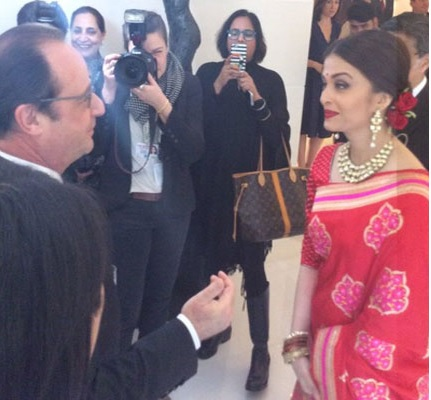 فرانسیسی صدر اولاند کے ساتھ دوپہرکے کھانے میں شامل ہوئیں ایشوریہ رائے