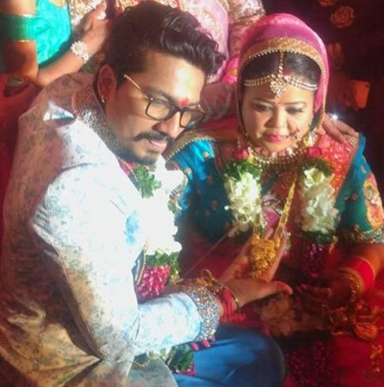 کامیڈین بھارتی نے بوائے فرینڈ سے کی شادی