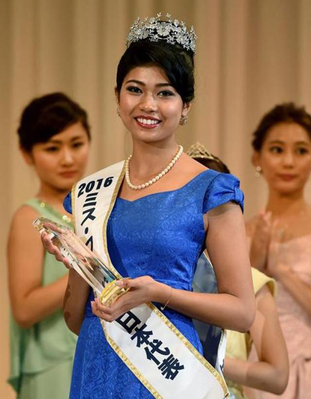 بالی ووڈ اداکارہ کی طرح نظر آنے والی پرینکا بنیں مس جاپان