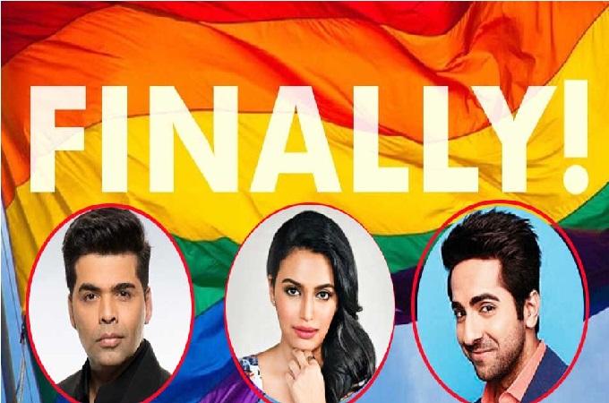 ہم جنس پرستی کی حمایت میں بالی ووڈ اسٹارس
