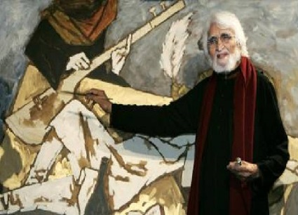 قدرت نے ایم ایف حسین کو برش و رنگوں کے ذریعے شاہکار تراشنے کا فن عطا کیا تھا