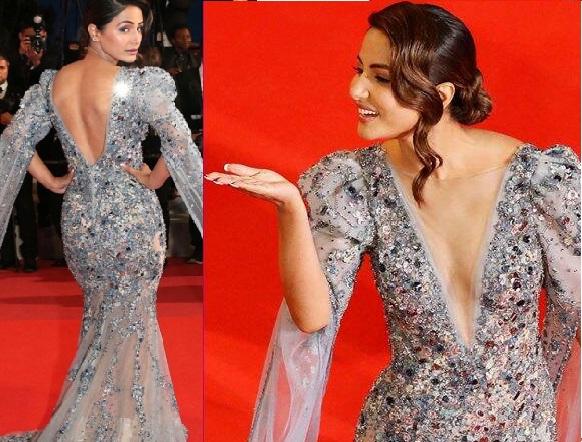 کین فلم فیسٹیول: ریڈ کارپیٹ پر حنا خان کا ڈیبیو