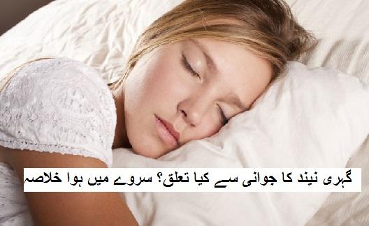 گہری نیند کا جوانی سے کیا تعلق ہے؟ سروے میں ہوا خلاصہ