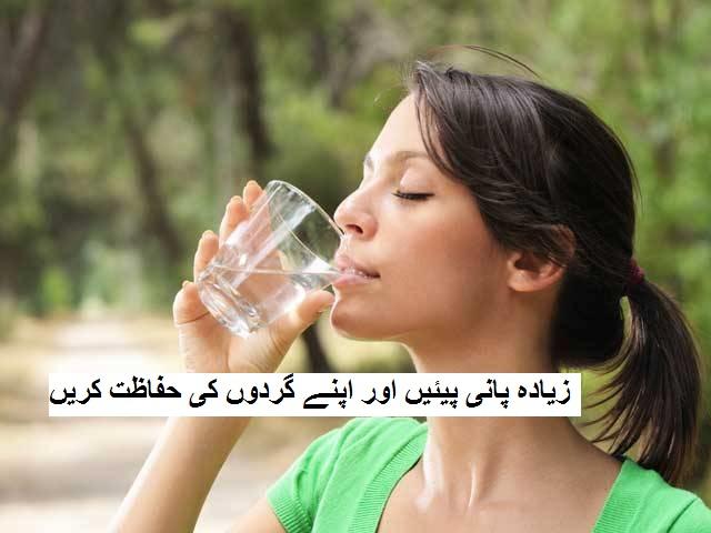 زیادہ پانی پیئیں اور اپنے گردوں کی حفاظت کریں