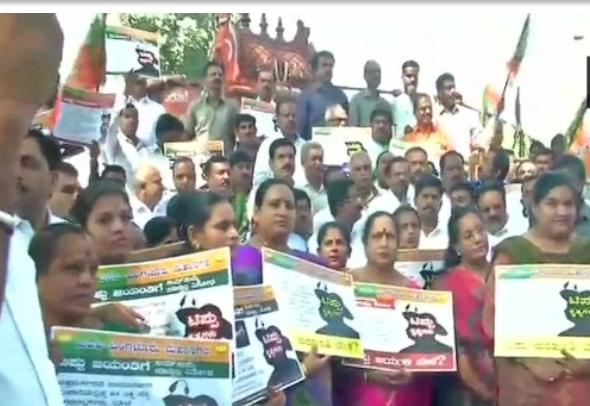 کرناٹک میں ٹیپو جینتی کے خلاف بی جے پی کا ریاست گیر احتجاج ، گرفتاریاں دیں