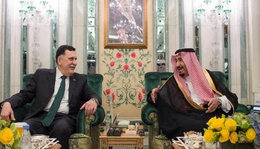 شاہ سلمان بن عبدالعزیز سے لیبیا کے وزیراعظم کی ملاقات